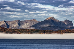arctic autumn (Sigita JP) Tags: mist autumn seascape sea mountain lines norway arcticcircle arctic landscape