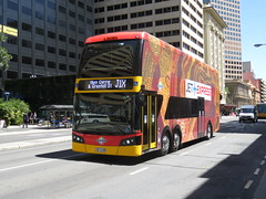 Bus 1790 on Grenfell St (RS 1990) Tags: adelaide southaustralia october 2016 bus 1790 doubledecker grenfellst sevensisters artwork