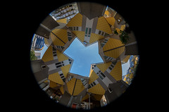 Cube houses - Rotterdam (Gatria) Tags: kubuswoningen kubus kubushaus kubushäuser cube houses house zuid holland netherlands nederland niederlande wide angle groothoek lens fisheye fischauge objektiv canon 5d mk iv mark 4 815mm ef