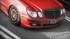 Mercedes W211 (crashmattb) Tags: caffeineandoctane canon70d canon35mmf2isusm august 2016 carphotography sportscar atlanta georgia carshow carmeetup ipadpro photoshopfix photoretouching atl mercedes w211 stancelife loweredlife