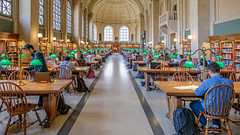The reading room (ronperry811) Tags: colorful architecture vanishingpoint bostonpubliclibrary readingroom books library