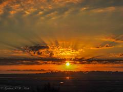 Wow Rise (Gabriel FW Koch (fb.me/FWKochPhotography on FB)) Tags: sunrise sunset morning dawn redsky sun sunlight awesome sunrays clouds pretty beauty beautiful nikon telephoto p900 panorama scenic landscape colors marsh