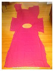 Muted Magenta (Kurokami) Tags: toronto ontario canada vintage fabric panel panels craft crafting quilt quilting sew sewing cotton muted magenta large irregular shape plain colour pink