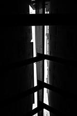 (formwandlah) Tags: kaiserslautern urban city noir dark strange melancholic melancholisch sureal bizarr skurril abstrakt abstract darkness light bw blackwhite black white sw monochrom high contrast ricoh gr pentax formwandlah thorsten prinz einfarbig surreal architecture architektur tower turm babel hochhaus finsternis dramatic sky wolken dster outdoor minimalismus schrfentiefe gebude indoor atrium