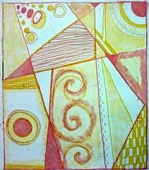 Geometrická kompozice, protisk (KPV FP TUL) Tags: protisk barva