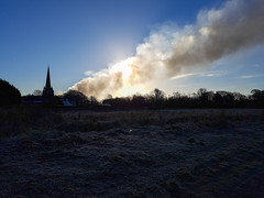 Sefton sunrise shot scuppered by smoke from Prescot fire (Jonathan_Marsh) Tags: sefton fire smoke sun sunrise church merseyside liverpool samsunggalaxys7 landscape photography