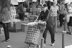 CARRY ON (_EmogloBer_Photography_) Tags: man oldage streetphotography blackandwhite oldman carryon step nikon