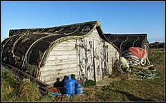 Lindisfarne boat sheds.