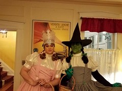 Sean Brown as the Wicked Witch of the West, Halloween 2016 (Halloween in Oz) Tags: seanbrown wickedwitchofthewest halloween2016 salem ma hawthornehotelcostumeball sevendeadlysins glinda oz halloweeninoz