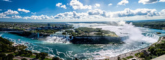 Niagara Falls pano (Bob Gundersen) Tags: bobgundersen robertgundersen gundersen nikon nikoncamera nikond600 d600 niagarafalls ontario canada water waterfall landscape skyline river blue interesting image outside outdoor exterior scenes shoreline scene shore flickr explore panorama pano wideangle