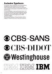 VGC 1976 catalog intro: Exclusive Typefaces (Stewf) Tags: vgc paulrand phototype customtype cbs westinghouse ibm logo