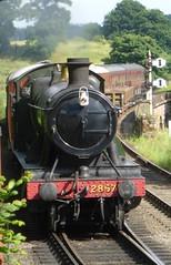 2857 arriving into Bewdley (jess_k_kent1) Tags: 2857 bewdley train engine steam loco locomotive severn valley railway svr track signals preservation railroad vehicle outdoor