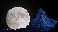 Super Lune ber Matterhorn ds'Hore Monte-Cervino (arjuna_zbycho) Tags: zermatt kantonwallis walliseralpen alpen wallis swiss schweiz valais vallese ch mountain alpine gornergrat glacier gletscher svizzera switzerland suisse mountains gry berge stadt miasto autofreiezone city elektromobil autofrei matterhorn dshore montecervino cervino montcervin lecervin supermoon superlune ksiyc lune clouds notte noche cielo sky night moon luna peniaksiyca mond lunar moonlight dark fullmoon riesenmoon collage