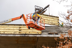 Removing concrete forms (Gary/-King) Tags: 2016 brattleboro i91bridge vermont construction december westriver