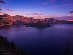 Crater Lake Sunrise on a Crisp October Morning (halladaybill) Tags: craterlake sunrise oregon nationalpark water mountainlake