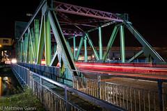 Duke Street Bridge (Matthew Gann) Tags: birkenhead bridge night traffic duke street canon g7x wirral merseyside docks