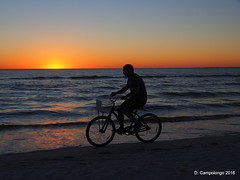 Bicycle and Sunset at Ft. Myers Beach (Don C. over 2 Million Views) Tags: ftmyersbeach sunset bicycle rider