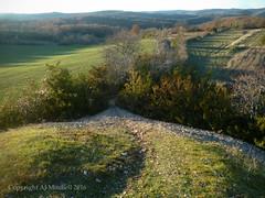 Cayrou de Anglars - from summit (AJ Mitchell) Tags: scrub steep path gravel rolling hills shadows forest cairn clearancecairn midden cayrou anglars caussedemartiel pierrier