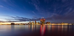 It's a Detroit thing (Notkalvin) Tags: detroit city kyline cityscape landscape panorama detroitriver buildings skyscrapers rencen renaissancecenter notkalvin mikekline notkalvinphotography outdoor night sunset evening reflection lights colors colorful windsor canada ontario acrosstheriver