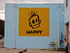 Happy, Augusta, GA (Robby Virus) Tags: augusta georgia happy painting wall art leonard zimmerman porkchop artist robot