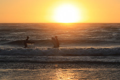Bodyboarding at Sunset - 3 (fksr) Tags: bodyboarding boogieboarding waves surf sunset beach dillonbeach marincounty california