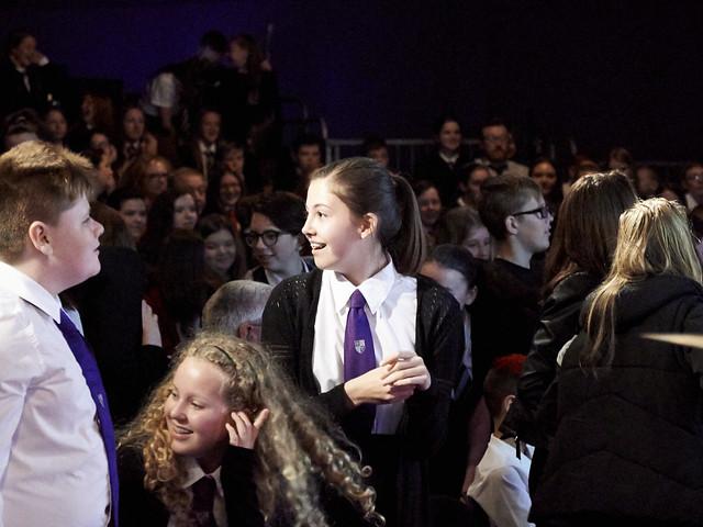 School pupils enjoying some hip-hop