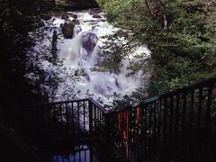 Swallow Falls Viewpoint (ss9679) Tags: uk 120 film wales mediumformat waterfall 645 kodak slide falls bronica transparency epson medium format swallow snowdonia ektachrome e100vs afon etrs zenza 4180 llugwy