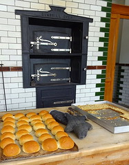 The Beamish Bakery (Snapshooter46) Tags: oven openairmuseum breadrolls countydurham beamishmuseum kitchentiles ovengloves beamishbakery dumbrilloven