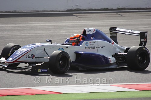 Jack Aitken in the Formula Renault 2.0 Saturday Race at Silverstone in WSR 2015