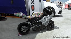Stickerbombed motor bike (Drew_SnowFox) Tags: motorbike stickerbomb