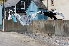 Blowin' in the Wind (Geoff France) Tags: outdoor cottage pebbles washing prop moray washingline sandend moraycoast