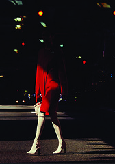 82206ee6-2e4f-4c7a-9367-d4945f98865f (Renegade98) Tags: street shadow red urban woman color strange fashion vertical blackbackground female standing dark walking moody shadows surreal trenchcoat mysterious brunette anonymous redlight 1person narrative redcoat caucasian whitestockings fullbodyshot 1woman nudepumps amandawellsh