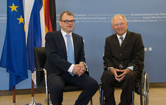 Prime Minister Juha Sipilä met with Federal Minister of Finance Wolfgang Schäuble