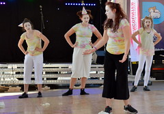 Modern dance at Lancashire Encounter, Preston (Tony Worrall) Tags: show county city uk england people students bike fun cycling dance stream tour open dancers place northwest unitedkingdom candid stage country north visit location lancashire event entertainment cycle area council preston northern update attraction uclan lancs flagmarket welovethenorth 2015tonyworrall lancashireencounterfestival thepeoplescanopyprocession