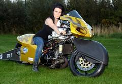 Holly_6967 (Fast an' Bulbous) Tags: santa england woman hot sexy girl bike evening pod nikon flash gimp babe september chick national finals motorcycle brunette goldenhour d7100