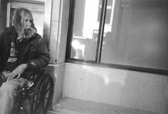 wheelchair (astroturtle) Tags: sanfrancisco california lomolca 150 fomapan100 minoltadimagescandualiv kodakhc110 film:iso=400 fomafomapan fomafomapan100 developer:brand=kodak film:brand=foma film:name=fomafomapan100 developer:name=kodakhc110 filmdev:recipe=8753