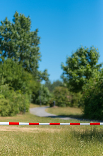rot-weißes Absperrband Foto: Ole Bader