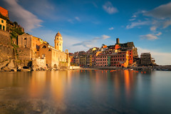 Pastel Reflections - Italy, Vernazza (Nomadic Vision Photography) Tags: travel italy liguria pastels colourful vernazza viewpoint cinqueterra iconic naturepark italianriviera fishingvillage jonreid tinareid nomadicvisioncom