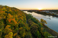 Fall Colors and Sunset on the Mississippi (lpvisuals.com) Tags: city sunset red urban orange usa fall robert colors leaves minnesota yellow skyline architecture skyscraper river mississippi boat leaf cityscape seasons stpaul minneapolis arches foliage riverboat powerline wellsfargo saintpaul bluff goldenhour highbridge sciencemuseumofminnesota ecolab harrietisland xcelenergycenter explored exploreminnesota sonya7 1stbuilding centurylink captureminnesota sonya7ii fe1636mmf4