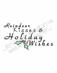 Reindeer KissesINSIDE #1WM (Lizzy Love ♥ Oddball Art Co.) Tags: santa christmas cute eye art love reindeer cards big holidays paintings hats creepy antlers elf fox kawaii greeting bats lizzy 2015 oddballart