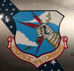 Strategic Air Command Shield on Convair B-36J Peacemaker_IMG_8441c (Wampa-One) Tags: emblem symbol sac shield insignia usairforce gauntlet strategicaircommand olivebranch lightningbolts nationalmuseumoftheunitedstatesairforce