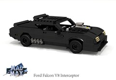 Ford Falcon XB Interceptor (Mad Max) (lego911) Tags: auto birthday max classic ford film car movie model lego render australia melbourne falcon 1975 aussie mad 1970s coupe xb challenge v8 8th pursuit 70th cad lugnuts supercharged geelong 96 povray littleriver moc youyangs ldd 2015 miniland fgx foitsop lego911 happycrazyeighthbirthdaylugnuts redoredemption