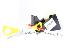 #TheTimesAreChanging (DutchAir) Tags: red yellow pencils gum control cut paste delete scissors tape changing times ctrl plakken schaar knippen potlood ctrlz flickrfriday gummen ctrlv ctrlx ongedaanmaken