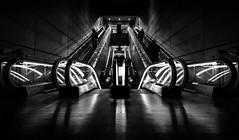 Stairs  gogo (tom.leuzi) Tags: street light shadow people blackandwhite bw stairs copenhagen denmark leute metro indoor menschen treppe schwarzweiss dnemark kopenhagen schatten kbenhavn personen hss canonef1635mmf4lisusm canoneos6d sliderssunday