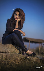 Eshana (Saidul Islam Rahie) Tags: portrait sky moon nature greentree