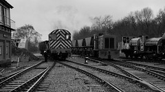 Brownhills Arrival (Duck 1966) Tags: 08 mgr wagons shunter chasewaterrailway 30742charter