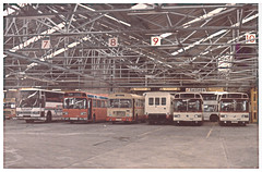 Charlotte Raod Sheffield Bus Garage. (ManOfYorkshire) Tags: bus buses station bristol nbc coach holidays garage national maintenance depot caribbean parked re leyland neoplan rell duple bristolre