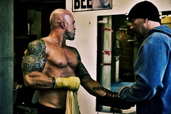 Actor John Joseph Quinlan - Former Cruiser Weight Boxing Champion of The World Character on Set Live Filming Prep @ Dullea's Boxing via Boston Film/Series with Trainer Greg Rich (TattooGirl6) Tags: irish film boston movie actors model fighter tattoos hollywood boxer movies actor spike series showtime trailer boxing fx fitness everlast lionsgate hbo pilot onlocation paramount malemodel punchingbag physique onset boxinggloves heavybag bostonmassachusetts tattooedmen boxingtrunks fitnessmodel bostonirish sportsmodel tattoosleeves manofstone physiquemodel americanmalemodel irishmodel johnquinlan peabodymassachusetts guyswithtattoos actorslife tattooedguys tattooedmodels peterkarras videotrailer gregrich johnjosephquinlan johnquinlancovermodel irishmalemodels cruiserweightboxingchampionoftheworld cruiserweightboxingchampion irishmalemodel dulleasboxing formercruiserweightboxingchampionoftheworld jackdullea irishgermandescent johndullea
