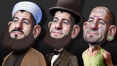 Paul Ryan's midlife identity crisis (DonkeyHotey) Tags: art face wisconsin photomanipulation photoshop election congressman budget politics cartoon speaker caricature candidate republican campaign 2012 houseofrepresentatives runningmate vp vicepresident politicalart mittromney politicalcommentary paulryan politicspolitical speakerofthehouse pathtoprosperity gopdonkeyhotey photomanipulationcommentary