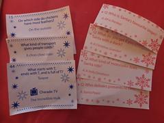 Cracker Jokes (stevenbrandist) Tags: christmas blue red table celebration jokes cracker pun puns 2015